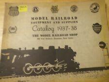 The Model Railroad Shop 1937- 38 Catalog Supplies and Equipment - Original