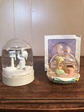 Vintage Precious Moments Waterball I Shell Always Treasure Christmas Snowglobe