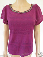 New Ex M&S Ladies Pink Scoop Neck Short Sleeve Casual Summer Party Top Size 8-24