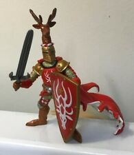 2007 Papo Knight Deer Antlers Red Medieval Sword Shield Action Figure 4.5""