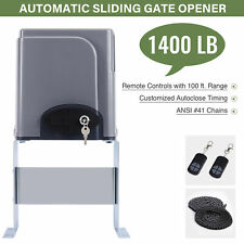 1400lbs Auto Sliding Gate Opener Operator Hardware Driveway Security System.