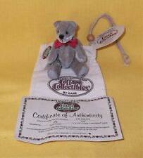 New listing Ganz Cottage Collectibles Mini Gray Kitty Cat Charlet Complete