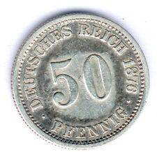 Deutsches Reich 50 Pfennig 1876 F. Silber Jaeger 7, Kratzer, ss/ss-