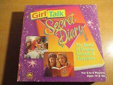 GIRL TALK:SECRET DIARY - The Game of Sharing Secrets - Golden - 1991 - rare