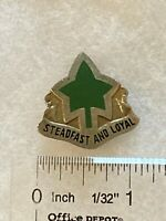 Authentic US Army 4th Infantry Division Unit DUI DI Crest Insignia G23