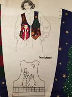 Cranston - Christmas Vest Holiday DIY Fabric pattern panel sewing