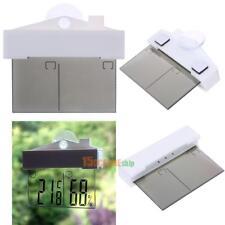 Digital Fenster Thermometer LCD-Display Innen Außen Hygrometer Garten + Saugkopf