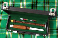 Scottish Practice Chanter Rosewood Silver Mount with Carrying Case Bagpipe