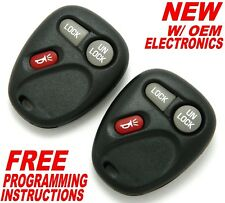 (2) NEW CHEVY GMC CHEVROLET KEY LESS REMOTE ENTRY KEY FOBS 15042968 KOBLEAR1XT