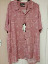 Men's Pink Paisley Short sleeve Casual Shirt Size XL, Bnwt