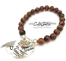 I Love You Grandma Bracelet You Are Always In My Heart Angel Wing Xoxo