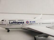 LUFTHANSA BOEING 747-400 FC Bayern Munich CHINA TOUR 1/500 Herpa 528306 747