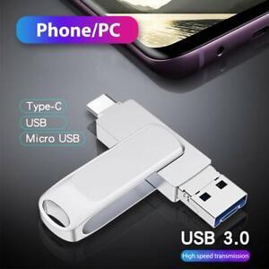 USB Stick 128GB 3 in 1 Type-C OTG Speicherstick für Handy Pad Laptop Computer