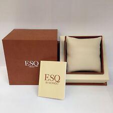 Authentic ESQ BY MOVADO SWISS Brown  WATCH BOX Jewelry Storage Case