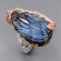 Labradorite Ring Silver 925 Sterling Handmade jewelry Size 7 /R143782