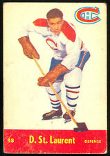 1955 56 PARKHURST HOCKEY #48 D DOLLARD ST LAURENT VG MONTREAL CANADIENS CARD