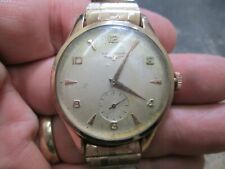 SUPER LONGINES RUNNING OVERSIZE JUMBO PINK GOLD TOP STAINLESS CASE WRIST WATCH