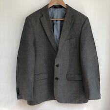 BARBOUR Blazer Jacket Size UK 40 EU 50 Grey Linen Cotton Elbow Pads Double Vent