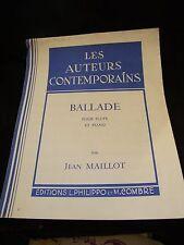 Partition Ballade pour flute et piano Jean Maillot Music Sheet