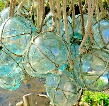 "Japanese Glass Floats 2"" Netted (22) Net Bundle Cluster Marine Matter Antique!"