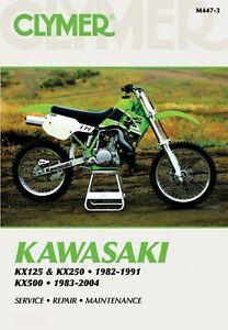 Clymer Repair Manual For Kawasaki KX 250 G1 1989 (0250 CC)