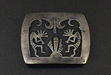 Vintage Hopi Sterling Silver Hopi Kokopelli Petite Belt Buckle