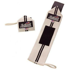 "Schiek Sports Model 1112 Heavy Duty 12"" Wrist Wraps - White/Black"