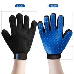 Pet Grooming Glove Brush Dog Cat Dirt Hair Fur Removal Remover
