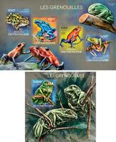 Frogs Frösche Amphibians Fauna Animals Central Africa MNH stamp set