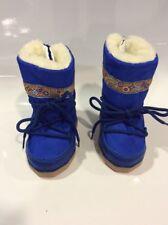 Doposci Scarponcino lana Neve + Omaggio Bambino - Bambina 18/20 Donna - Uomo blu