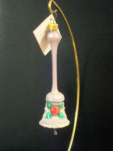 Vintage Christopher Radko Rose Bells (Lilac) Christmas Ornament,Super Rare! 1996