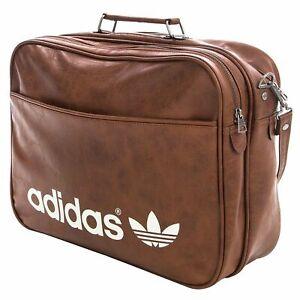 adidas Originals Vintage Airliner Bag Messenger Tasche Umhängetasche Braun
