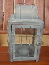 Rustic Glass & Metal Lantern