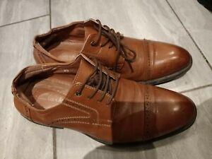 Clarks Men's Smart Brown Color leather Lace-up Shoes Size 42 /UK 7.5