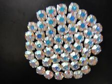 Swarovski Crystal Chaton Montees, Mounted Chatons, Crystal Clear, AB 4mm, 6mm