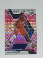 2019-2020 Mosaic Basketball Zion Williamson RC NBA Debut Pink Prizm SP