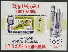 South Arabia Aden 1967 Olympic Games Mexico 1968 SHEET VF-NH