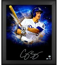 "Corey Seager Los Angeles Dodgers Framed Autographed 20"" x 24"" In Focus Photo"