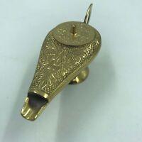 """Brass Genie Lamp Incense Burner, Mini Aladdin 5.5"""" Gold Finish Metal, Arabian"""