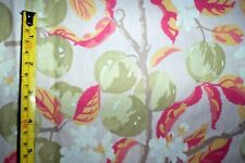 """Laura Ashley Orchard vintage curtains 53""""d x 43""""w apples"""