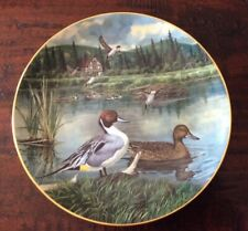 """1986 """"The Pintail� Collection Plate By Bart Jerner"""