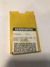 KENNAMETAL TPG322 New Carbide Inserts Grade K7H 20 Pcs Total