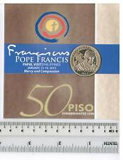 2015 PHILIPPINES BSP 50 peso POPE FRANCIS PAPAL Visit Commemorative Coin