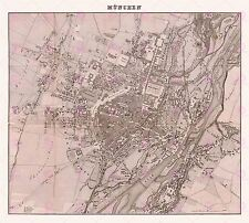 MAP ANTIQUE 1838 SOLTL MUNICH CITY PLAN BAVARIA LARGE ART PRINT POSTER LF1737