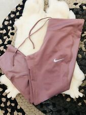 Excellent Nike Power Speed Crop Legging Medium Metallic Capri Pant Tight Pocket