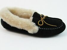 Fleece Lined Moccasin Slipper (Women's) - Black - Sz 40 EU