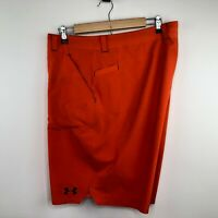 Under Armour Mens Hybrid Shorts Size 42 Bright Orange Flat Front Swim