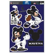 Baltimore Ravens Play To Win Mickey Mouse Laptop Multi Use Reusable Decals