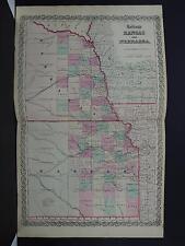Colton's Maps, 1855, Authentic, States of Kansas and Nebraska
