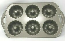 Nordic Ware Anniversary Six Mini Bundtlette Cake Muffin Pan Cast Aluminum